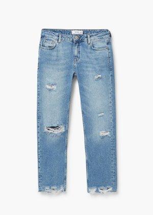 """Jeans """"Straight Joe"""" MANGO gerade ausgefranst 36"""