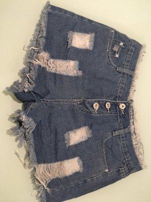100% Fashion Short bleu acier