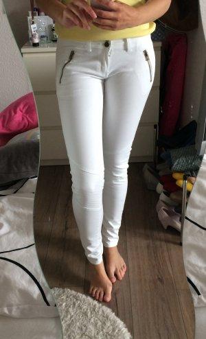 Jeans-Strechhose mit Nähten auf dem Knie