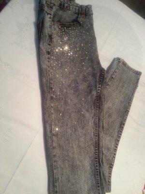 Jeans,Strecht- Hose ,H&S Hose ,Jeans mit Glitzer Gr.34