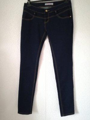 Jeans Stretch Jeanshose Skinny Röhrenjeans Stretchhose Schleifen
