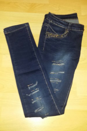 Jeans - Stretch mit Strass Applikationen