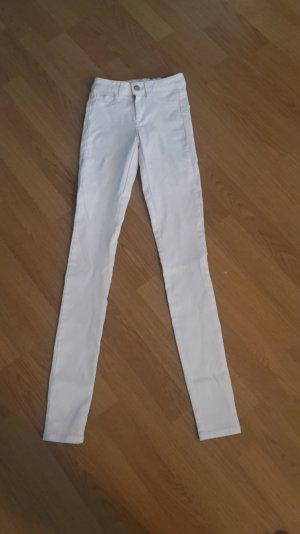 Jeans Stretch Sommer Röhre Slim Fit Midi Waist