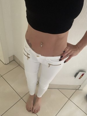Tally Weijl Pantalone a vita bassa bianco