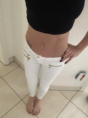 Tally Weijl Pantalon taille basse blanc