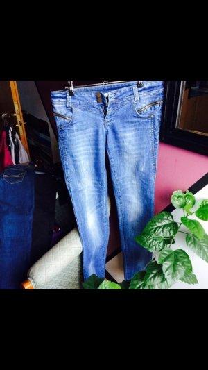 Jeans tally weijl hell blau gerades bein low waist