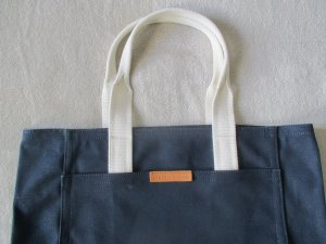 Armani Exchange Canvas Bag blue cotton