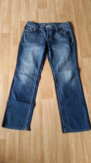Tom Tailor Denim Jeans coupe-droite bleu foncé coton