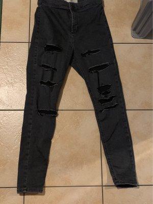 Topshop Jeans cigarette gris