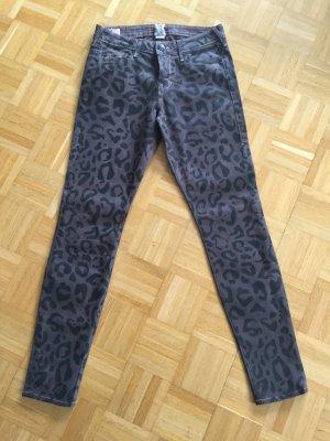 Jeans True Religion beschichtet Leomuster schwarz/braun 27