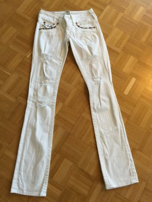 Jeans True Religion Billy 25 weiß mit Nieten