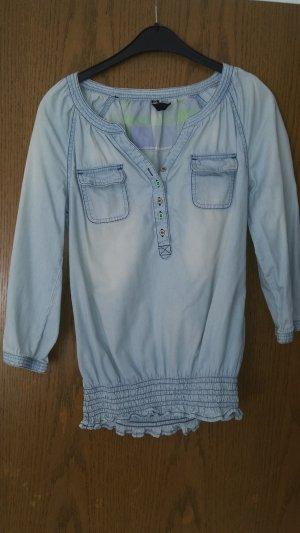 Jeans- Tunika mit hübschen Details in Größe M