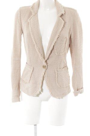 Jeans Blazer in tweed rosa antico stile casual