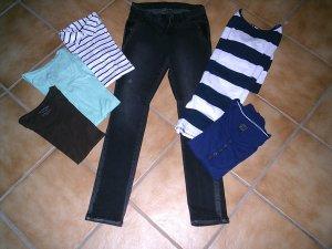 Jeans elasticizzati multicolore