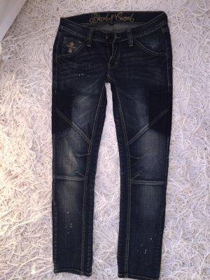 Blessed & Cursed Jeans dark blue