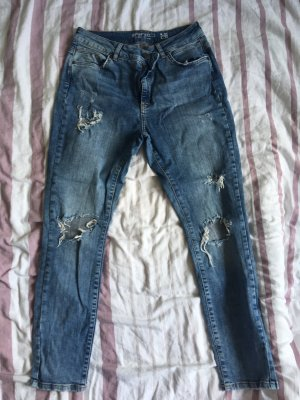 Noisy May Hoge taille jeans azuur