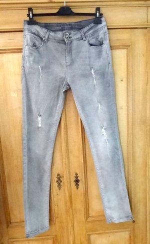 Guido Maria Kretschmer Jeans silver-colored cotton