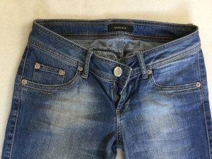 Versace Jeans a gamba dritta azzurro-blu fiordaliso Cotone