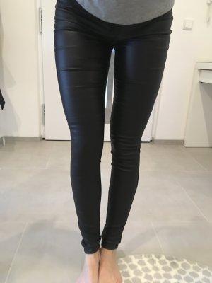 Jeans Vila xs Leder Optik schwarz Röhrenhose Neuschnee Blogger Fashion insta
