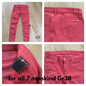 7 For All Mankind Jeans vita bassa salmone Cotone