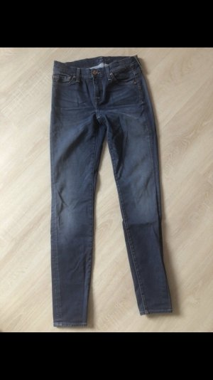 7 For All Mankind Vaquero pitillo azul aciano-azul acero