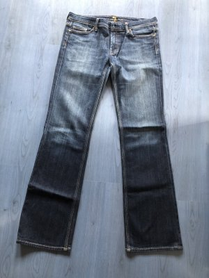 7 For All Mankind Low Rise Jeans dark blue