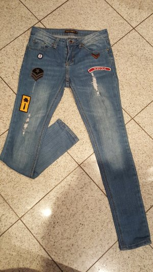 Jeans boyfriend blu Cotone