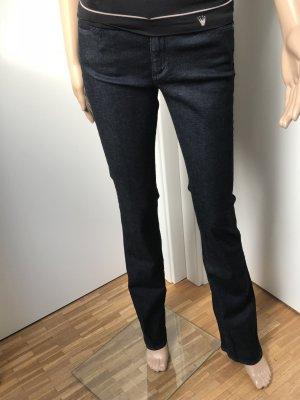 Adriano Goldschmied Low-Rise Trousers dark blue cotton
