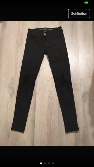American Eagle Outfitters Drainpipe Trousers black