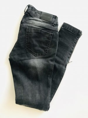 Anine Bing Tube jeans donkergrijs Katoen
