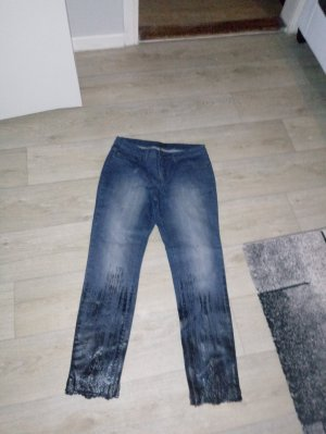 Apart Jeans coupe-droite bleu-noir coton
