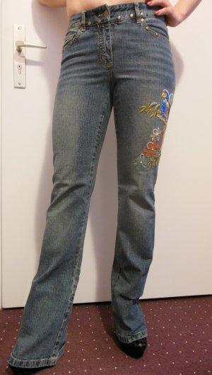 Jeans von Apart mit Stickerei