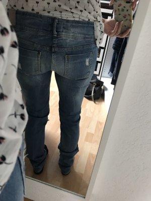Bershka Low Rise jeans azuur