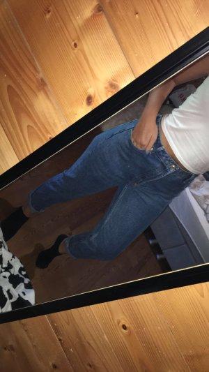 Bershka Jeans boyfriend blu scuro-blu