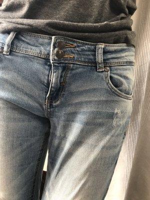Bershka Jeans taille basse bleu azur