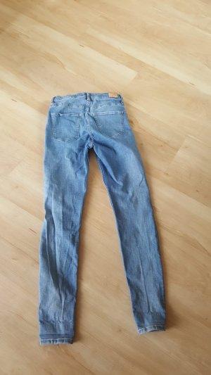 Bershka Hoge taille jeans lichtblauw