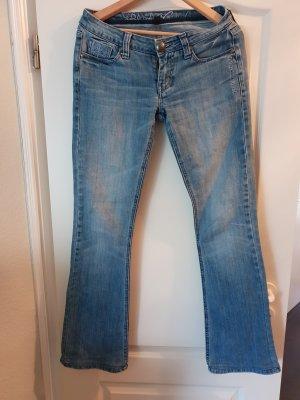 Blessed & Cursed Jeans bootcut bleu azur