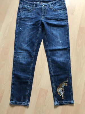 Cambio 3/4-jeans donkerblauw