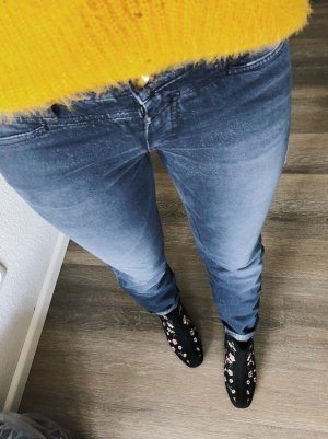 Closed Jeans vita bassa blu acciaio-grigio ardesia Tessuto misto