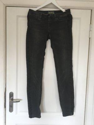 Closed Jeans cigarette noir-gris foncé tissu mixte