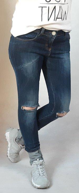 Coconuda Drainpipe Trousers blue-dark blue