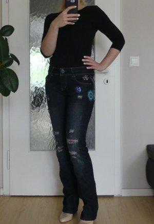 Desigual Jeans a gamba dritta blu scuro