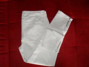 Pantalón de pinza alto blanco