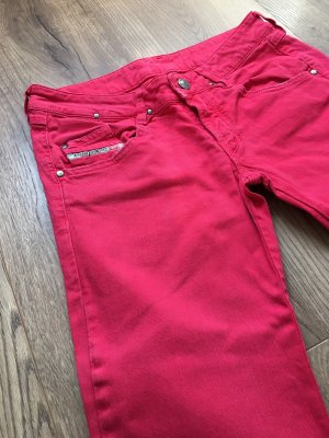 Diesel Tube jeans rood-lichtrood