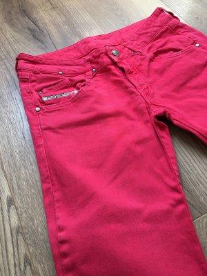 Diesel Jeans a sigaretta rosso-rosso chiaro