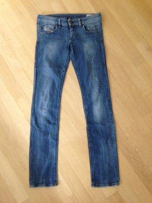 Diesel Low Rise jeans staalblauw Katoen