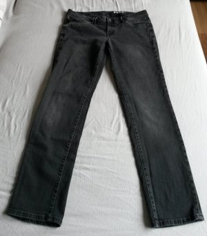 Jeans von edc/Esprit, Gr. 31/30, black used, straight leg, low waist