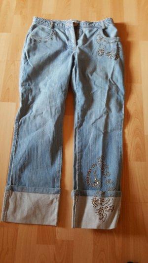 Elegan's Jeans a 7/8 azzurro