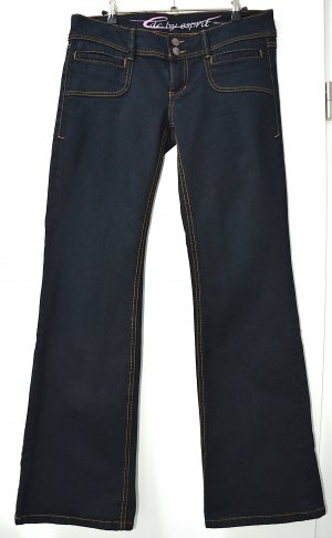 edc by Esprit Boot Cut spijkerbroek zwart Gemengd weefsel