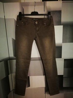 Low Rise jeans lichtbruin-bruin